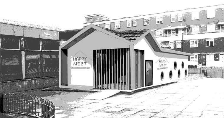 Happy Nest Nursery, Hackney, London, E2 8LR (Hackney Council) (planning permission & building control) architect, ARB / RIBA
