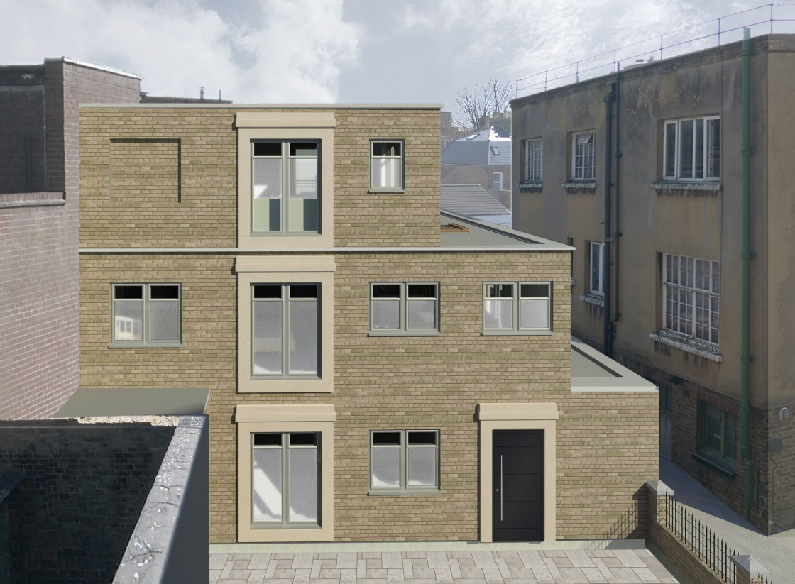 11 Court Yard, Eltham, London, SE95QE (Greenwich Council) (planning permission & building control) architect, ARB / RIBA